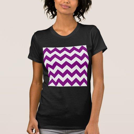 Zigzag I - White and Purple Tshirts