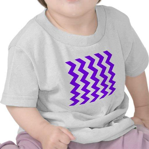 Zigzag I - White and Violet T Shirt