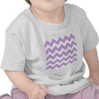 Zigzag I - White and Wisteria Shirts