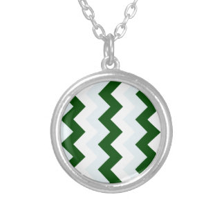 Zigzag I - White, Dark Green and Light Blue Custom Jewelry