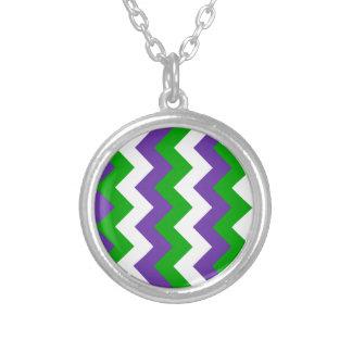 Zigzag I - White Green and Violet Custom Jewelry