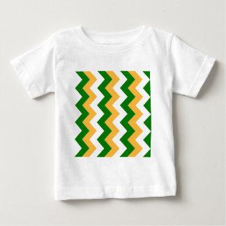 Zigzag I - White, Orange and Green T-shirts