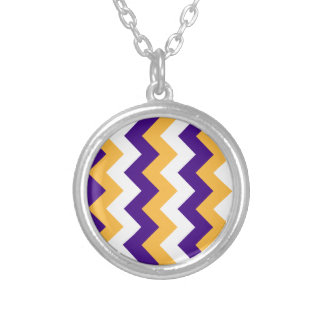 Zigzag I - White, Orange and Violet Jewelry