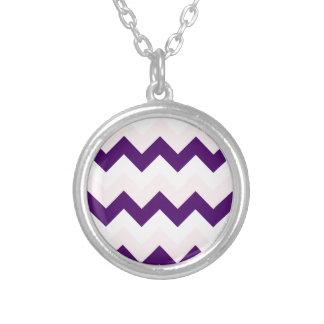 Zigzag I - White, Pink and Dark Violet Jewelry