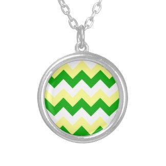 Zigzag I - White, Yellow and Green Pendant