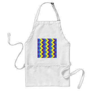 Zigzag I - Yellow Violet Blue Aprons