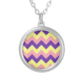 Zigzag I - Yellow, Violet, Pink Pendants