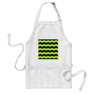 Zigzag II - Black and Fluorescent Yellow Aprons