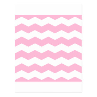 Zigzag II - White and Cotton Candy Postcard