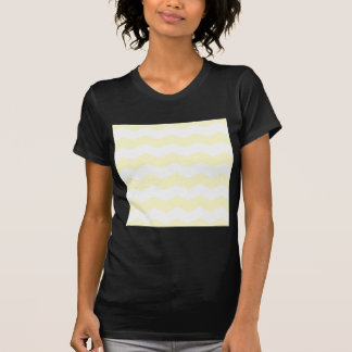 Zigzag II - White and Cream T-shirt