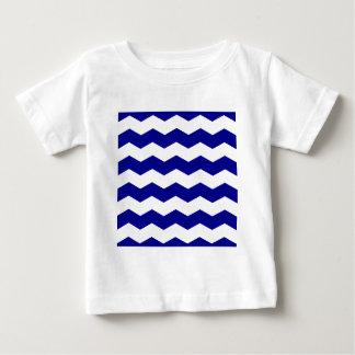 Zigzag II - White and Dark Blue Tee Shirt