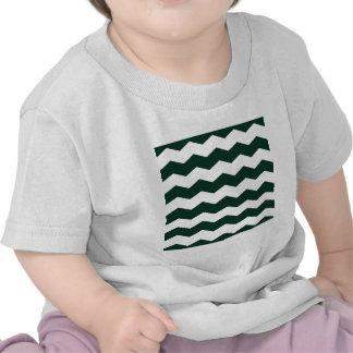Zigzag II - White and Dark Green Shirt
