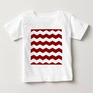 Zigzag II - White and Dark Red Shirt