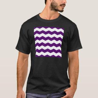 Zigzag II - White and Dark Violet T-Shirt