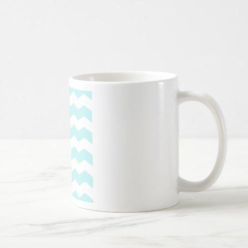 Zigzag II - White and Pale Blue Mug