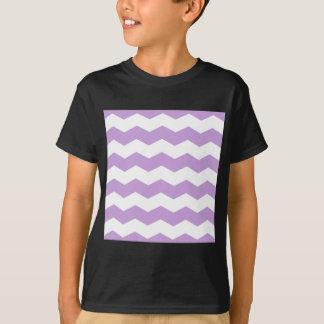 Zigzag II - White and Wisteria T-Shirt