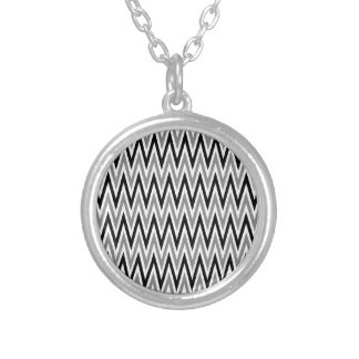 Zigzag III Silver Plated Necklace
