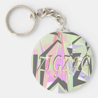 zigzag key ring