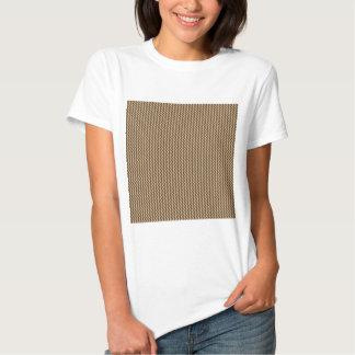Zigzag - Khaki and Dark Brown Tshirt