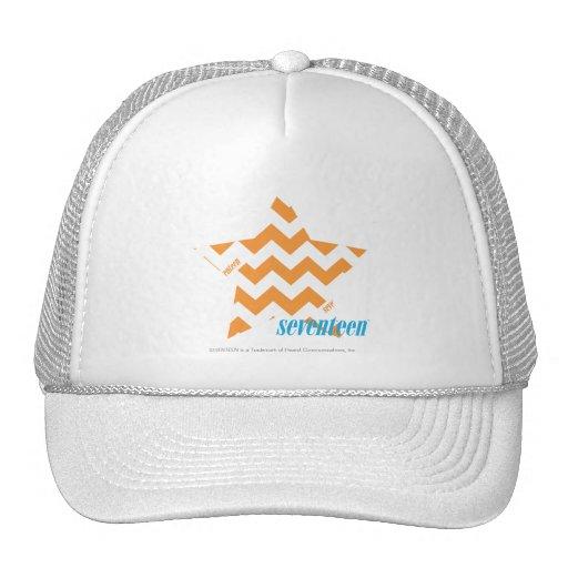 ZigZag Orange 3 Mesh Hats