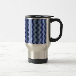 Zigzag - Pale Blue and Navy Blue Mug