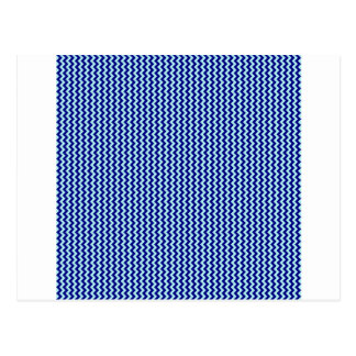 Zigzag - Pale Blue and Navy Blue Postcard