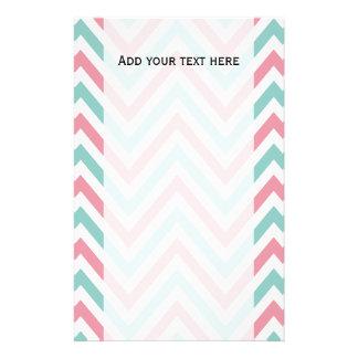 Zigzag Pattern, Chevron Pattern - Blue Pink White Stationery