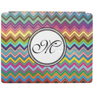 ZIGZAG pattern - colored + your monogram iPad Cover