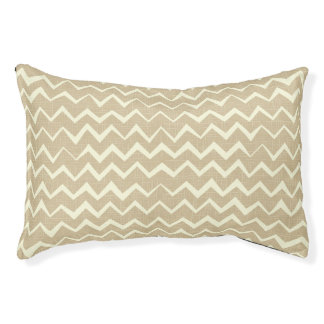 Zigzag pattern pet bed