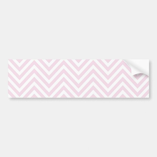 ZigZag Personalisable pattern Background Template Bumper Stickers