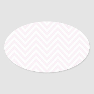 ZigZag Personalisable pattern Background Template Oval Sticker
