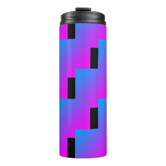 Zigzag Pink Blue 4Roxy Thermal Tumbler