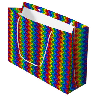 Zigzag Rainbow Large Gift Bag