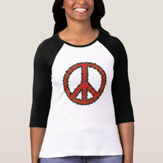 ZigZag Red Peace Sign Tshirts