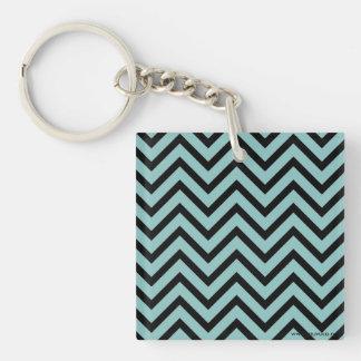 Zigzag Single-Sided Square Acrylic Key Ring
