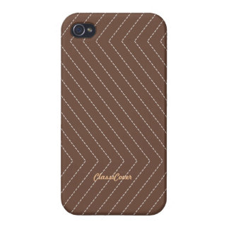 ZigZag Stripes Brown Pattern Savvy iPhone 4 Covers