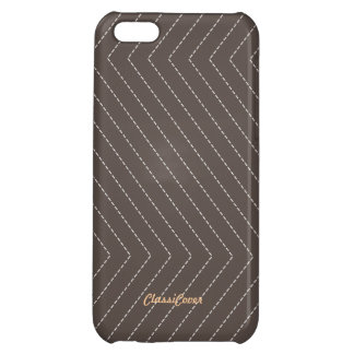 ZigZag Stripes Gray Brown Pattern Savvy iPhone 5C Cover