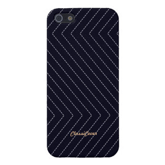 ZigZag Stripes Navy Blue Pattern Savvy Case For iPhone 5