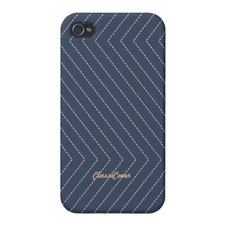 ZigZag Stripes Pale Blue Pattern Savvy Cases For iPhone 4
