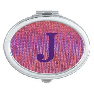 Zigzag Sunset Monogrammed Mirror For Makeup
