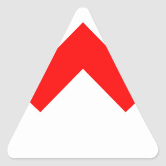 ZigZag Triangle Sticker
