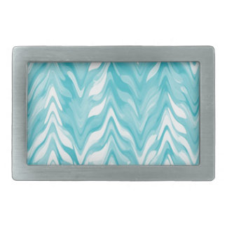 zigzag, watercolor, elegant, stylish rectangular belt buckle
