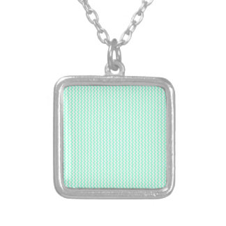 Zigzag - White and Aquamarine Custom Necklace