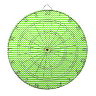Zigzag - White and Bright Green Dartboard