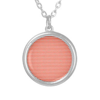 Zigzag - White and Bright Red Pendant