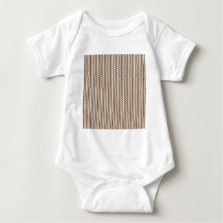 Zigzag - White and Brown Nose Baby Bodysuit