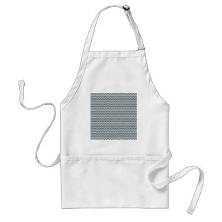 Zigzag - White and Charcoal Aprons