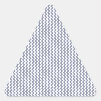 Zigzag - White and Cool Gray Triangle Sticker