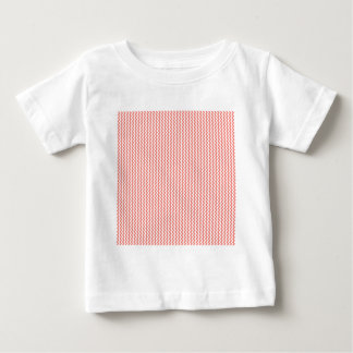 Zigzag - White and Coral Pink Tshirt