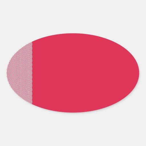 Zigzag - White and Crimson Sticker